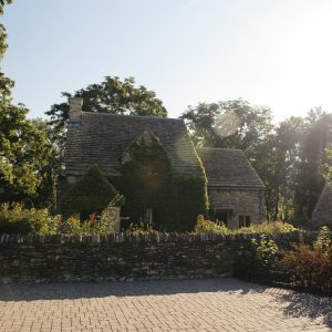 Photo by EE Berger. Cotswold Cottage from a distance.
