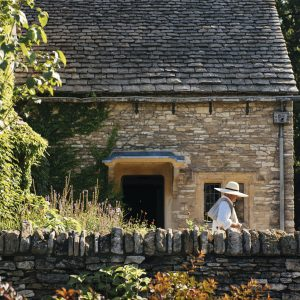 Photo by EE Berger. Cotswold Cottage during a bright summer day.
