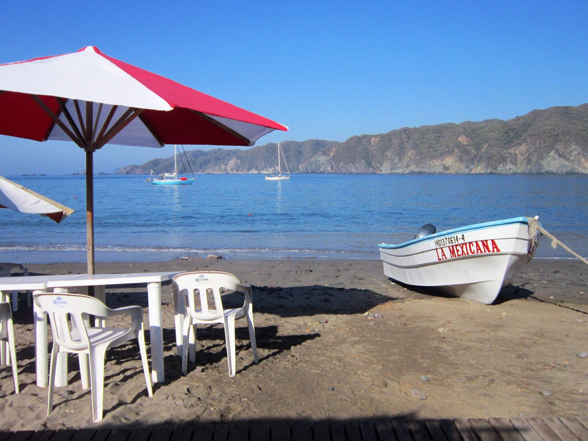 The beach in Cuastecomate