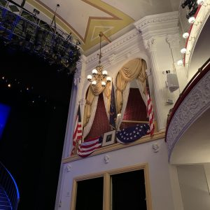 A photo of a mural inside a theatre in Washington DC