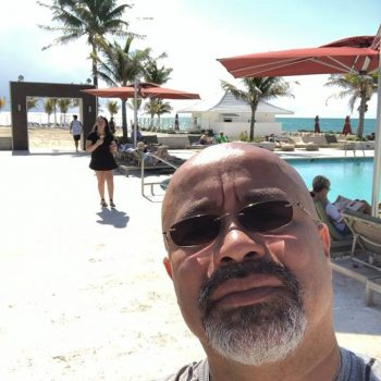 One of the perks of teaching in Miami is that Jose can visit the beach often.
