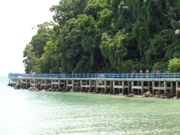 The sea path at Marine Park in Air Batang.
