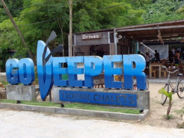 The Go Deeper Hotel, at the foot of the Marine Park jetty.