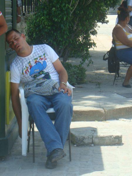 Having a restful moment in Havana