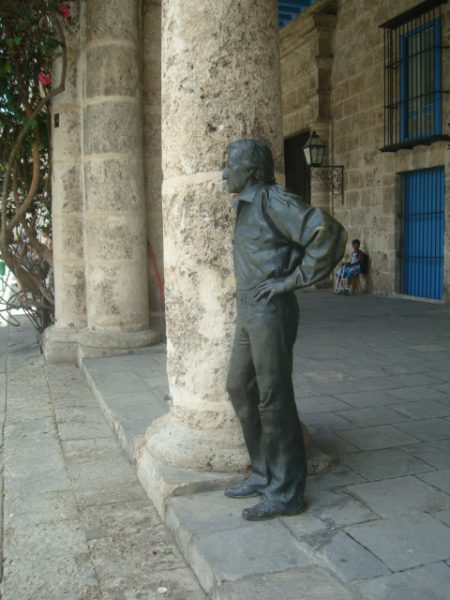 A statue on stand-by