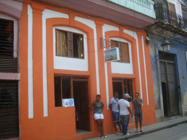 A photo of a paladar, or a small family-owned restaurant