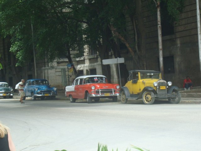 A photo of some vintage cars in Havana, Cuba