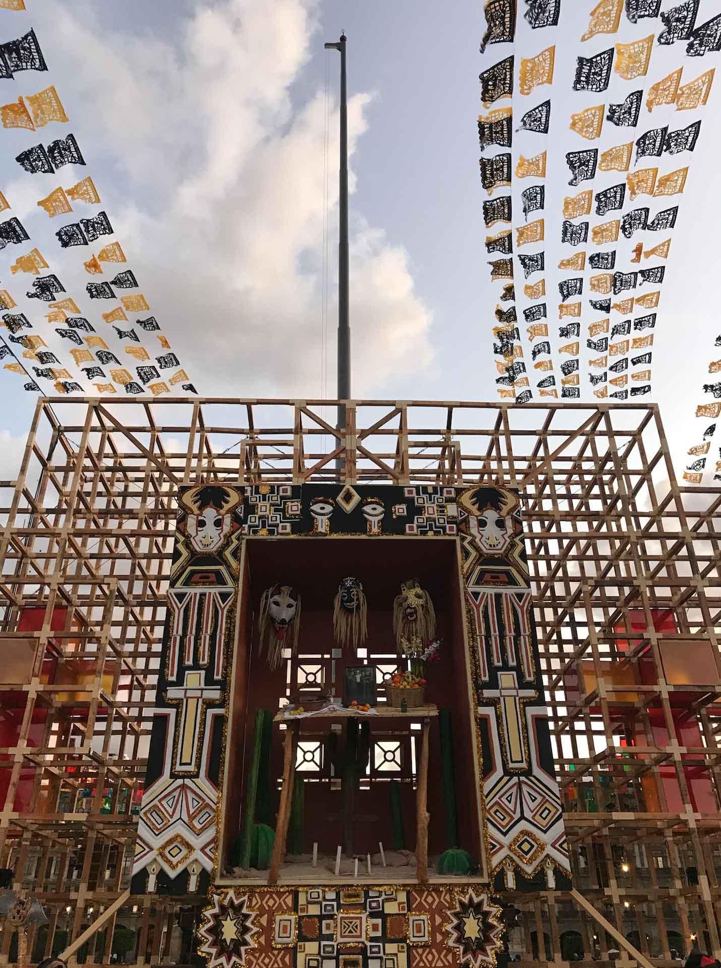 Dia de Los Muertos Arriving in Mexico City