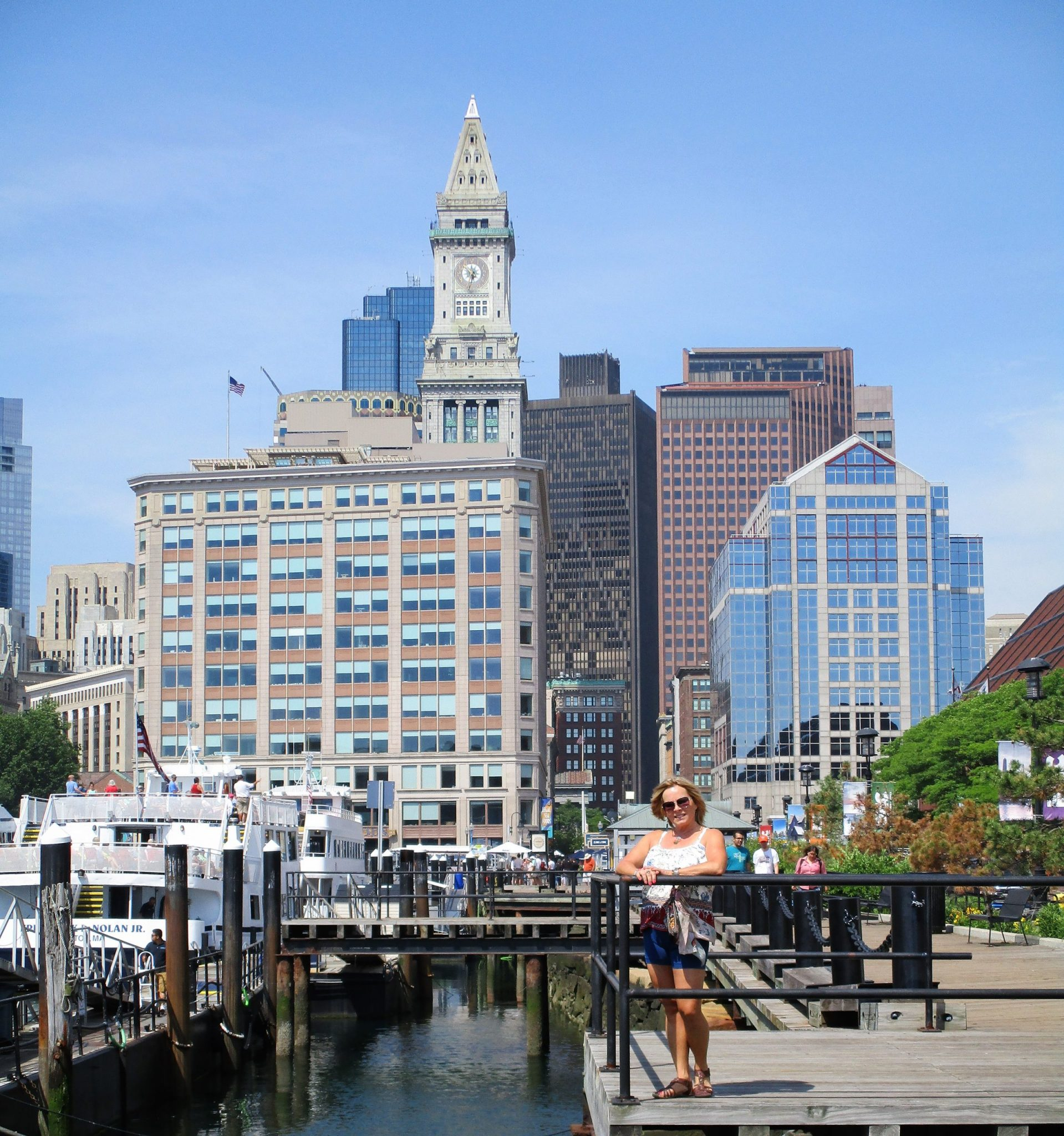 A photo of downtown Boston.