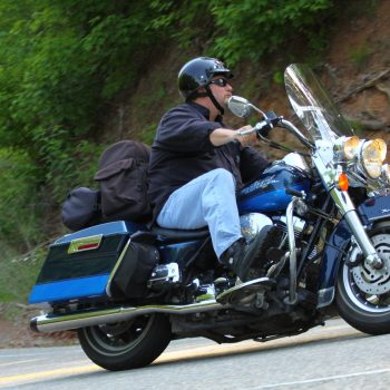 Ed riding the Tail of the Dragon