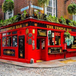 The Temple Bar, a famous pub in Dublin