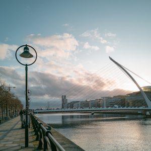 The River Liffey runs through Dublin