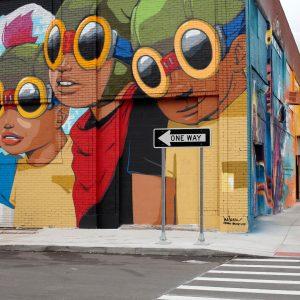 Photo by Hebru Brantley. A mural at the Eastern Market in metro Detorit.