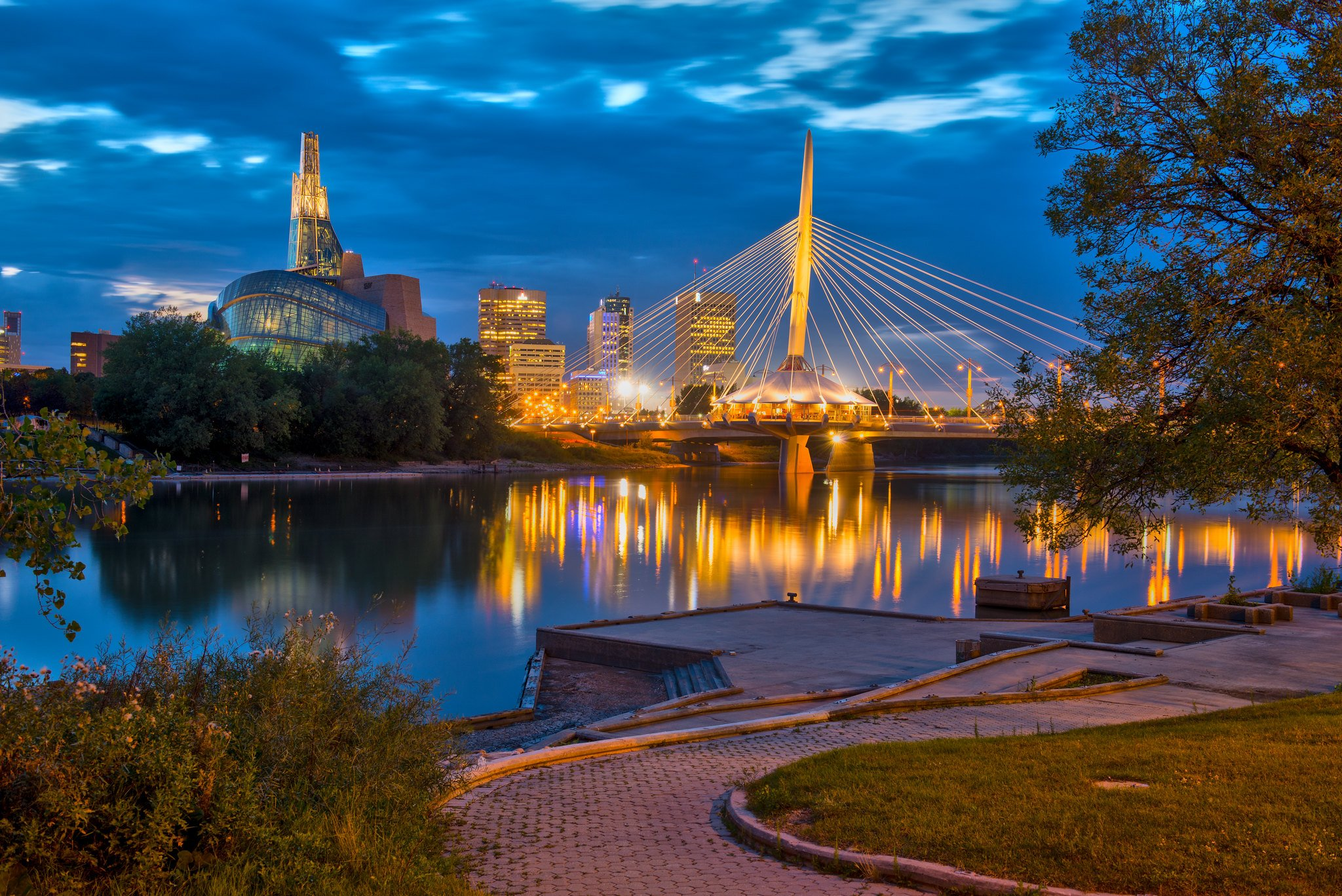 A photo of the Esplanade Riel, one of the great things to do in Winnipeg