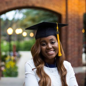 Paunise after graduating with her bachelors before moving on to pursue her MBA.