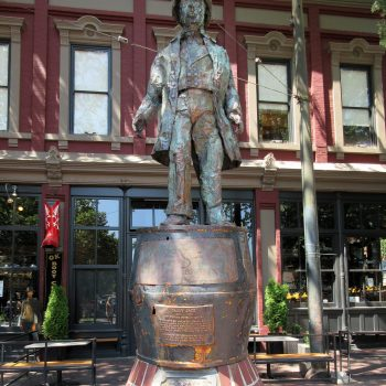 The statue of Gassy Jack in Gastown near Vancouver.