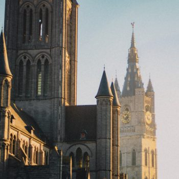 The gothic cathedral in Ghent, one of the best places to visit in the summer.