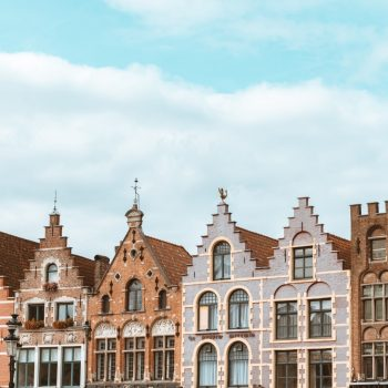 A row of buildings in Ghent.