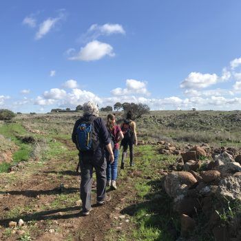 Hikers in Golan Heights