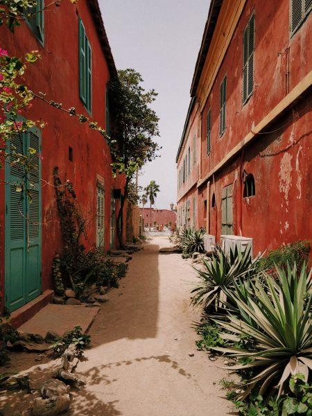 A street in Dakar, Senegal in West Africa