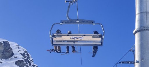 A Grimentz ski lift, which Adam photographed while skiing in Switzerland.