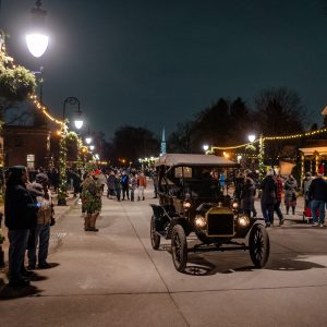 Photo by Nick Hagen. Guests venturing down Main Street during Holiday Nights.