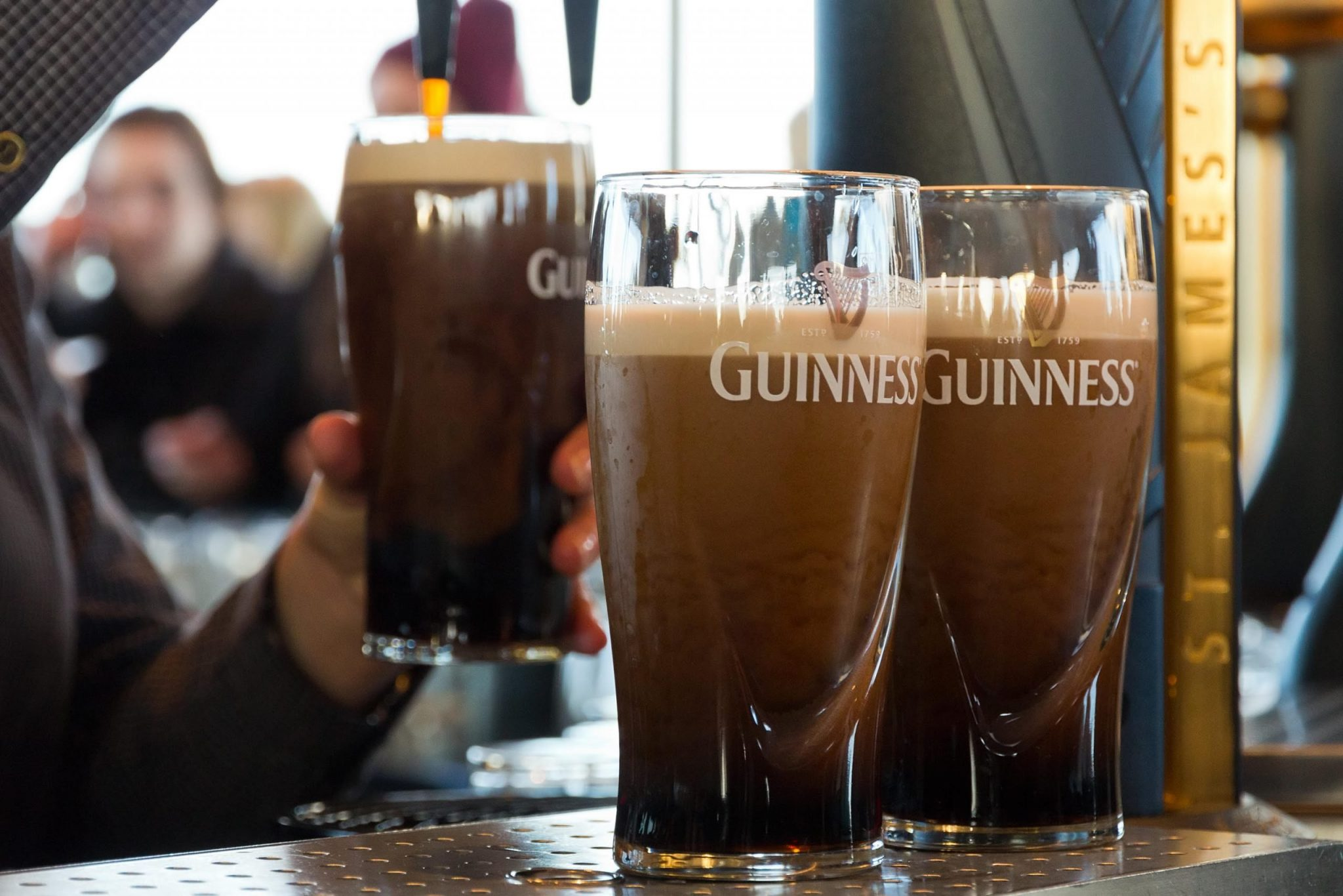 Try a Guinness in one of Ireland's Irish bars
