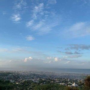 An aerial view of a city in Haiti