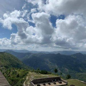 The scenic mountain ranges in Haiti