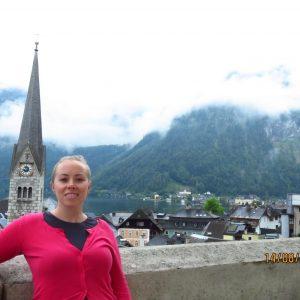 Kristen in Hallstatt, Austria