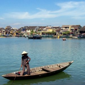 Hoi An from the water.