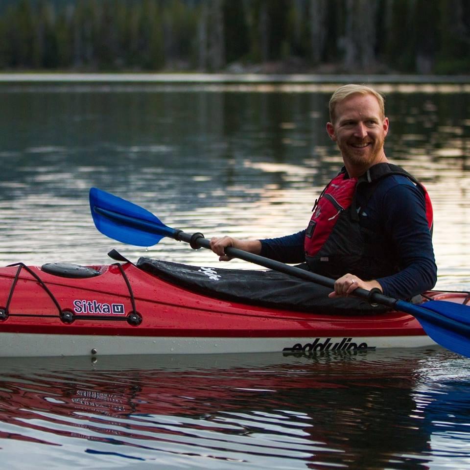Scott Holley kayaking