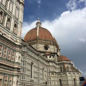Outside look of the Florence Cathedral's dome
