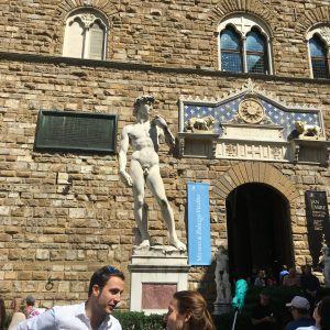 A copy of the statue of David in Florence