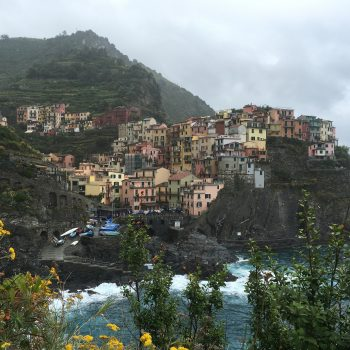A glimpse at Cinque Terre from afar