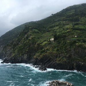 A view of the hills in Cinque Terre