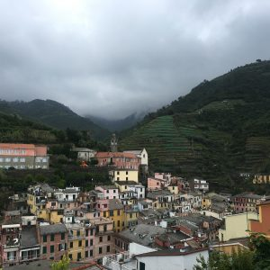 Looking out across one of the towns in Cinque Terre
