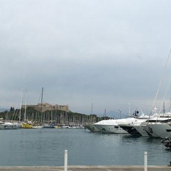 The Antibes Marina.