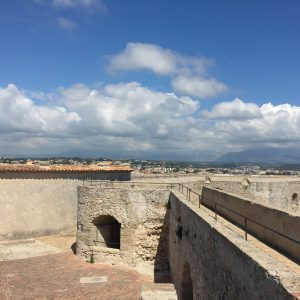 The wall of Fort Carre.
