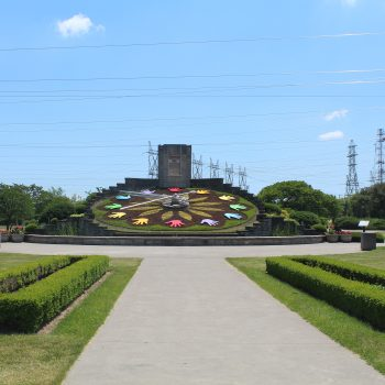 A photo of the Floral Clock in Niagara Falls.