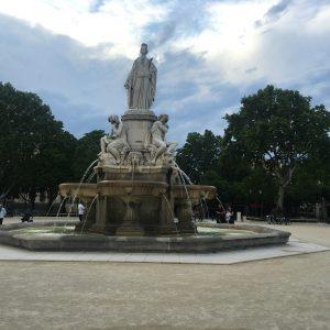 The fountain in Nimes.