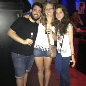 Cassidy meeting up with Rodrigo and Celia in Madrid.