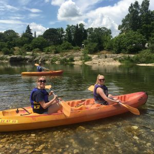 Some friends kayaking the Rhone
