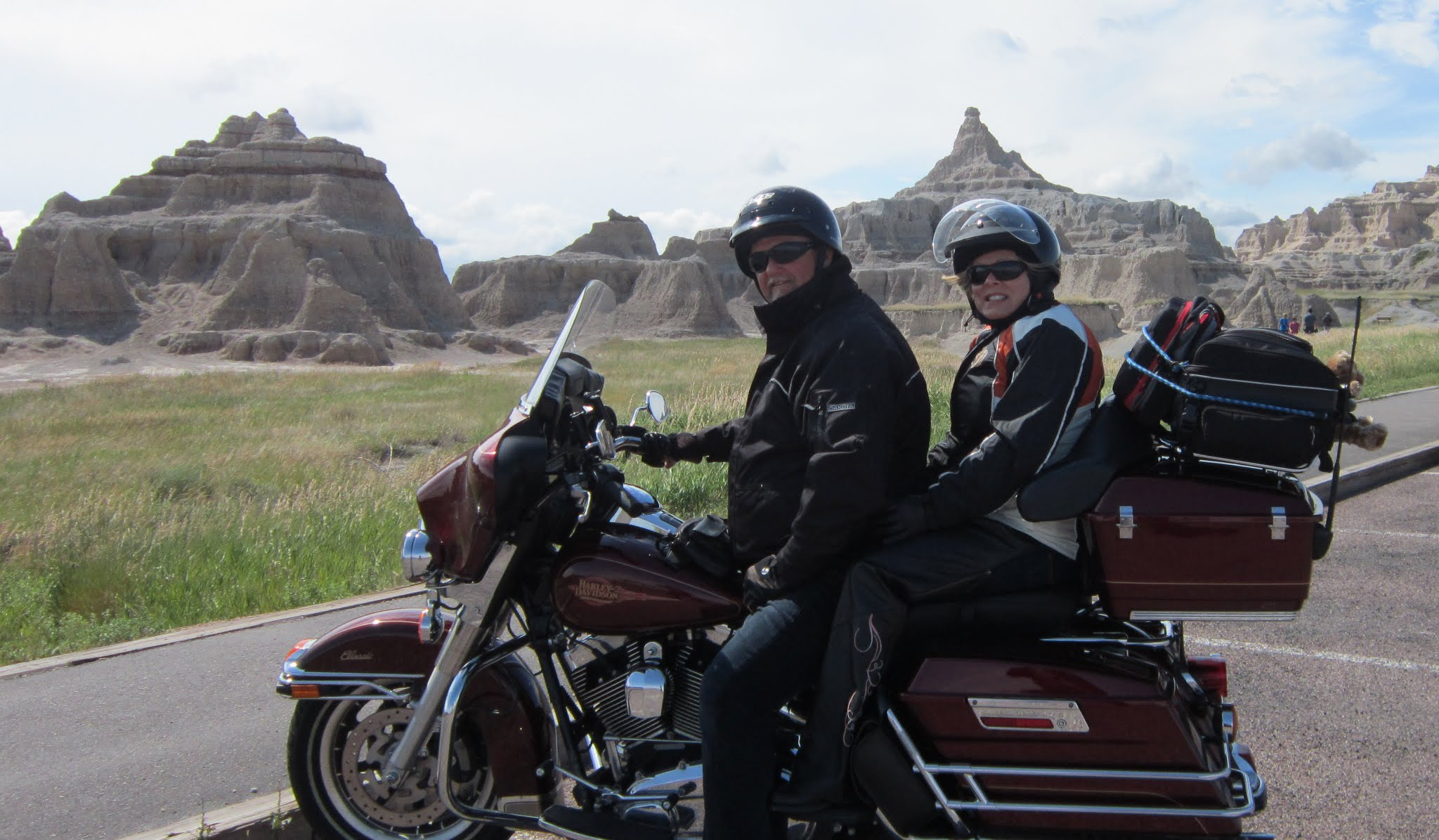 Tips for International travel: Ed and his wife on a motorcycle