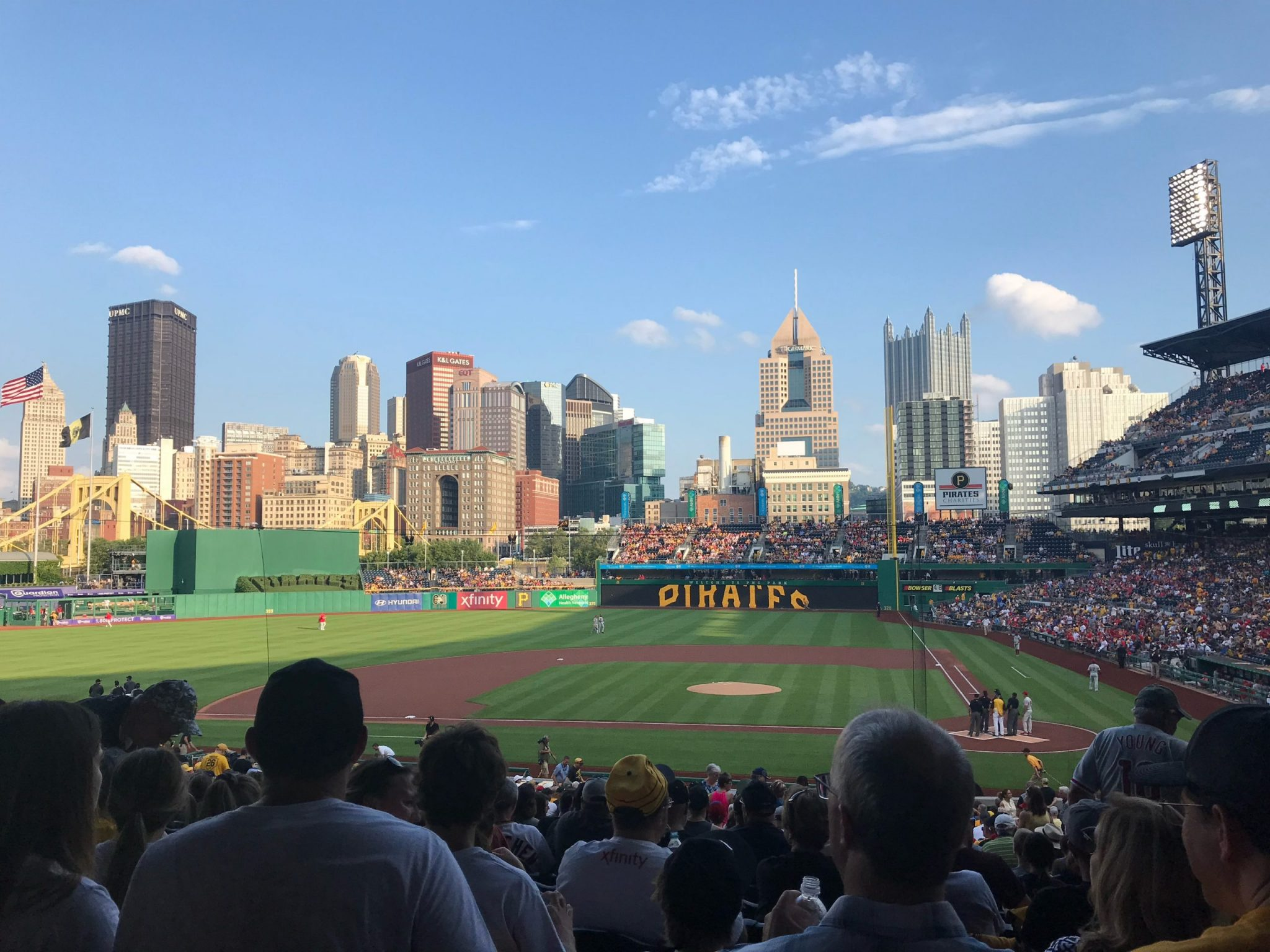 One of the best things to do in Pittsburgh is to visit PNC Park, Pittsburgh's beautiful baseball stadium..