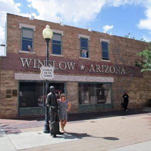 Ed's wife in Winslow, Arizona.