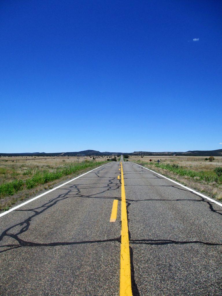 Wide open roads off of US Hwy 66.