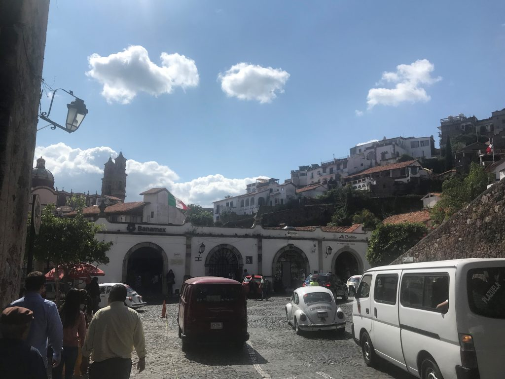 The square in Taxco, Mexico