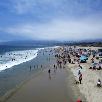 A California beach.