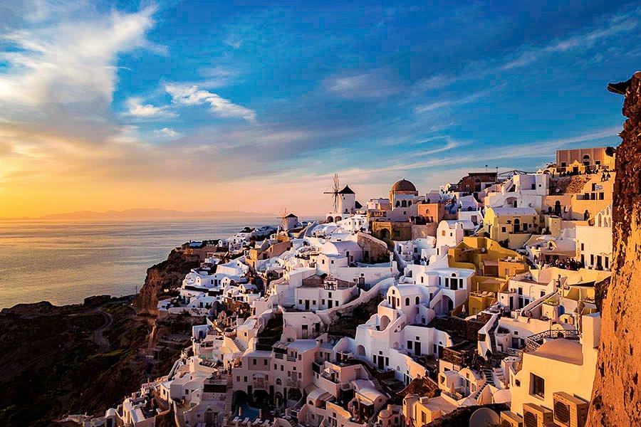 A photo of Santorini.